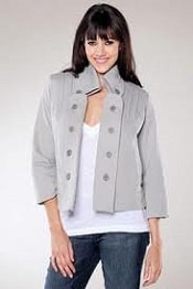 swing fleece coat