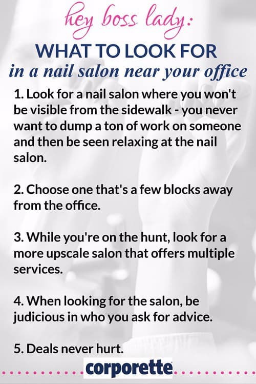 how to find a nail salon near the office -- inspired by a story from a female law partner!