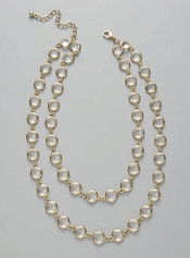 Ann Taylor  Crystal Two-Tier Necklace