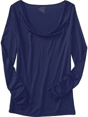 Old Navy Womens Ruched Cowl-Neck Tops