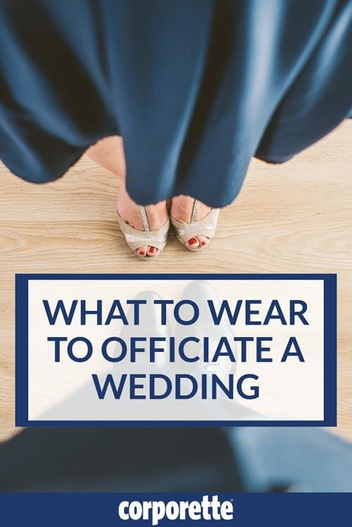 A reader wrote in wondering what to wear to officiate a wedding, and we rounded up some ideas for her. You want to be appropriately festive but still have gravitas, with no possibility of upstaging the bride…