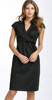Donna Ricco Ruched Cotton Dress