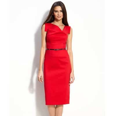 4eaf1247dbe Workwear Hall of Fame   Jackie  Belted Gabardine Sheath Dress -  Corporette.com