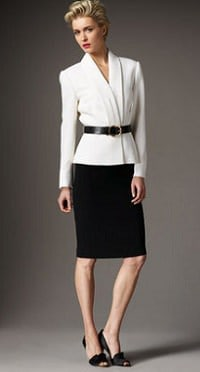 tahari two-tone belted suit 1