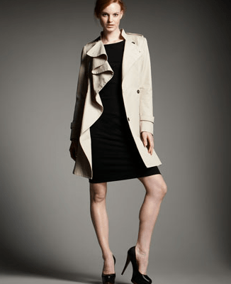 Ruffled Trench Coat
