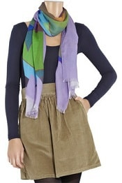 TheOutnet.com. Jonathan Saunders Cashmere and silk-blend printed scarf