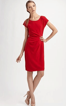 DKNY Cap-Sleeve Scoopneck Dress