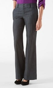 CalvinKlein Favorite Fit Stretch Chambray Bootcut Pants