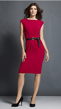 Ruched-bodice dress