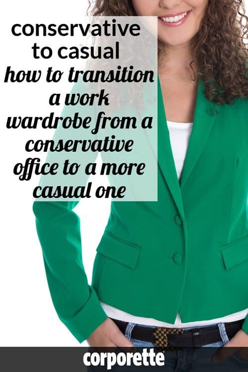 When you're transitioning from a more conservative office to a more casual one, women often have to switch their wardrobes to be more business casual. We rounded up our best tips to help any professional know how to dress down her work wardrobe so her more conservative sheath dresses and structured blazers can still be work appropriate in a business casual office and not too dressy.