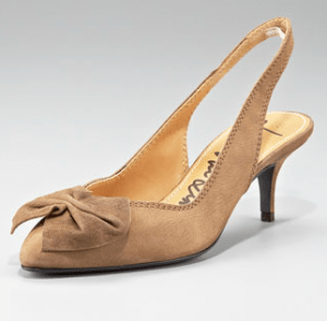 Lanvin Bow-Toe Suede Slingback