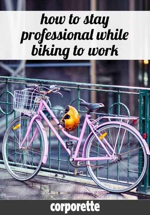 A reader wrote in wondering how to stay professional while biking to work -- she worried that by keeping her business casual clothes at the office (and biking to work in leggings and sneakers) and arriving with helmet hair and no makeup, it was creating an unprofessional impression when she arrived at work. Great discussion with the readers on the style of cycling -- and how to stay professional while biking to work.