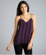 Geren Ford phantom striped silk fishtail hem camisole