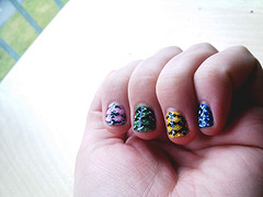 Colorful argyle nails, originally uploaded to Flickr by borispumps