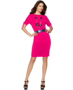 Ellen Tracy Dress, Ruched Sleeve