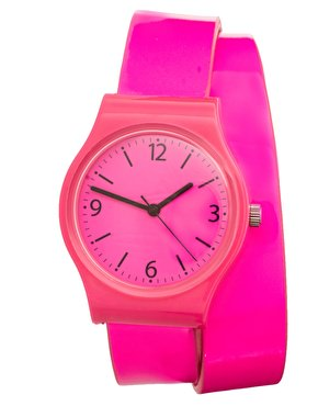 ASOS Neon Pink Double Strap Watch