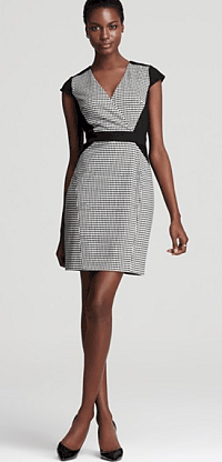 Cynthia Steffe Houndstooth Dress - Printed Ponte Elyse