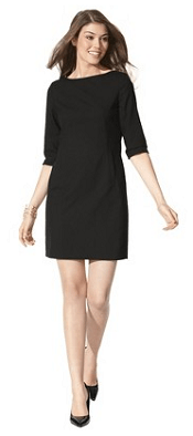 Mossimo® Womens TRS Boat Neck Dress - Black