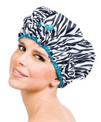 "Betty Dain Stylish Design Mold Resistant Shower Cap, The Fashionista Collection, ""sassy Stripes"""