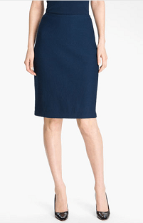 St. John Collection Basket Weave Knit Pencil Skirt