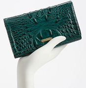 Brahmin Croc Embossed Leather Continental Wallet