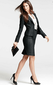Ann Taylor Olivia Tweed Jacket and Tristan Tweed Skirt