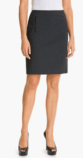 Halogen® Double Check Plaid Skirt