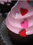 Pink and Red Hearts Cupcake, originally uploaded to Flickr by Zen Cupcake.