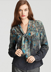 BASLER Peacock Shirt with Tie