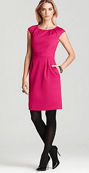 Trina Turk Dress - Crest Solid Ponte