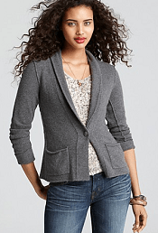 Aqua Cashmere Blazer - Shawl Collar with Pockets