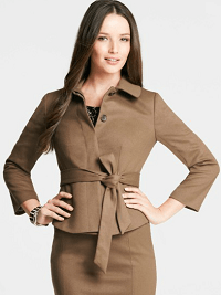 Wool Blend Belted Jacket