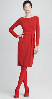 Armani Collezioni Long-Sleeve Dress With Keyhole Back