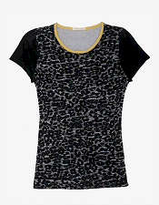 Leroy & Perry Leopard Knit Tee