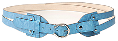L. Erickson Criss Cross Horseshoe Leather Belt