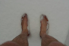 Up to my ankles in snow, originally uploaded to Flickr by Lollyman.