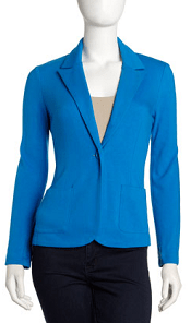 Ponte Knit Blazer, Mermaid Blue