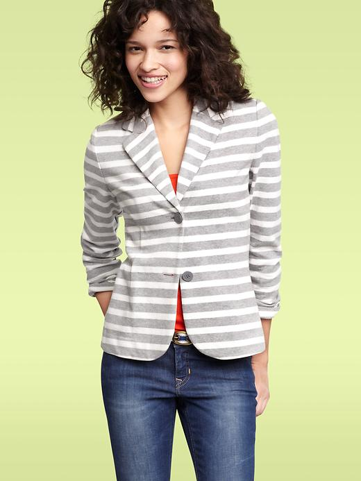 Gap Striped Two Button Blazer
