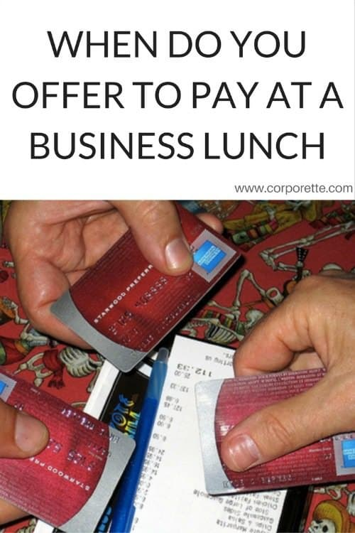 Who pays at a business lunch? If you're the younger person, should you ever offer your credit card, or is that offensive?