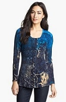 Nic + Zoe Print Peplum Cardigan (available in plus sizes too)- love the vibrant blue here. Now $99, will be $150 after sale.