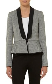 Corporette's Suit of the Week: Dorothy Perkins Grey Textured Suit