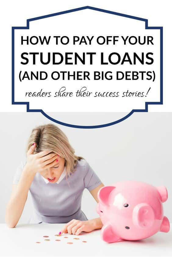 how to pay off student loans and other big debts