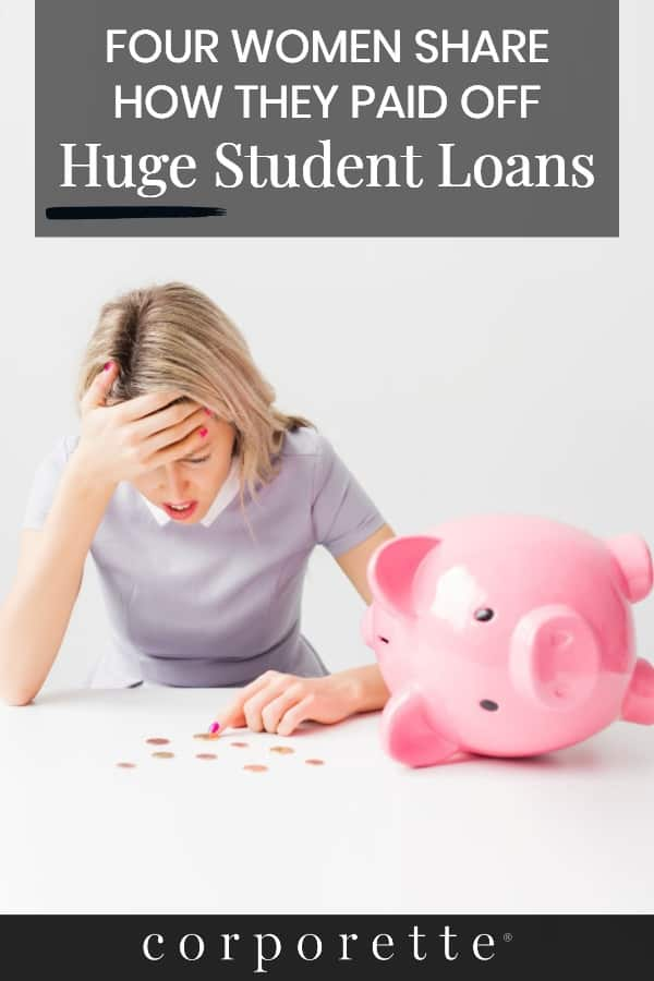 Looking for some student loan payoff stories for inspiration? Whether it's your undergrad, JD, MBA, MD, or other student loan debt, we hear you! We interviewed four women on how they paid of BIG STUDENT LOANS -- and commenters chimed in with even more stories. You can use these same techniques (like debt snowballing!) to pay off other big debts, too, like credit card debt.
