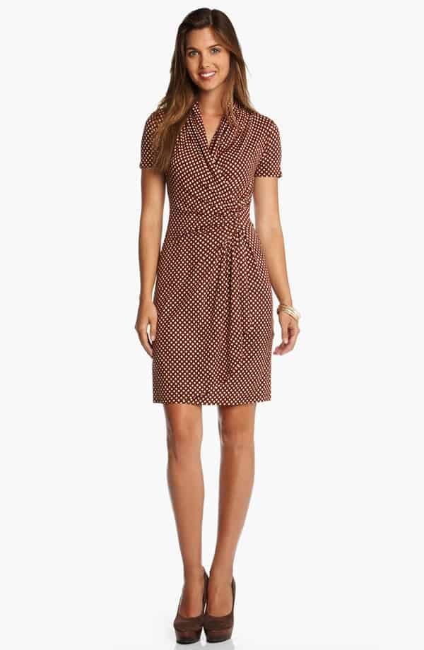 eee3c4d8f992 Workwear Hall of Fame  Cascade Faux Wrap Dress - Corporette.com