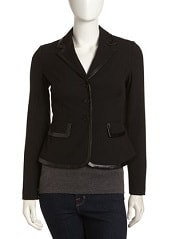 Laundry by Shelli Segal Peplum Trimmed Jacket, Black