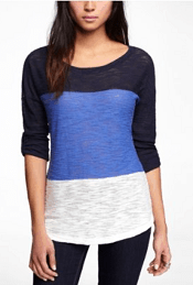 Express color block sweater tunic