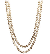 Carolee Gold-Tone Ombre Glass Pearl Double Strand Necklace