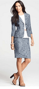 Ann Taylor Two Button Tweed Jacket