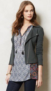 Anthropologie Terry Moto Jacket