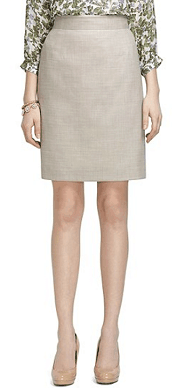 Brooks Brothers Wool Silk Linen Skirt